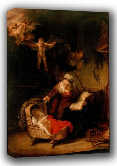 Rembrandt Harmenszoon van Rijn: The Holy Family. Religious Fine Art Canvas. Sizes: A3/A2/A1 (00554)